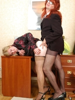 Filthy gay sissy and his co-worker going down to frenzied anal amusement